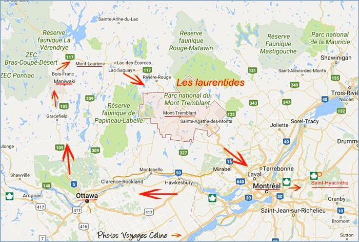 Carte Indienne Maniwaki.Route De Ottawa A Maniwaki Canada 2017
