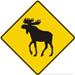 Panneau routier au canada Orignal